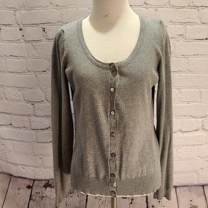 Maurices Gray button up cardigan long sleeve shirt